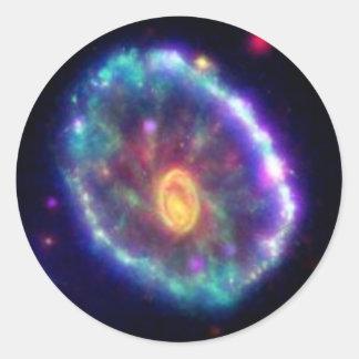 Cartwheel Galaxy Classic Round Sticker