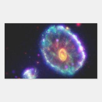 Cartwheel Galaxy Rectangular Sticker
