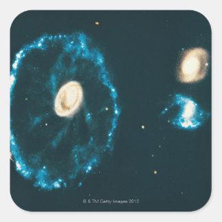 Cartwheel Galaxy Square Sticker