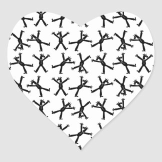 Cartwheel Unicorn Heart Sticker