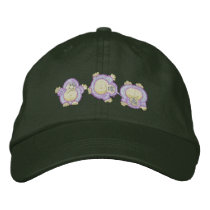 Cartwheeling Hedgehog Embroidered Baseball Cap
