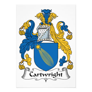 Cartwright Family Crest Card