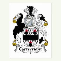 Cartwright Family Crest Postcard