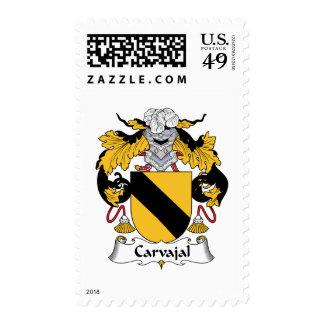 Carvajal Family Crest Postage Stamps