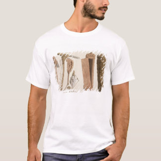 Carved and decorated Aboriginal tools, illustratio T-Shirt