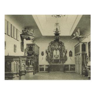 Carved church pieces, Hallands Museum, Halmstad, Postcard