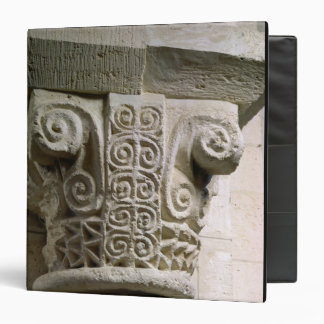 Carved column decorated with croziers and spirals vinyl binders