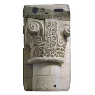Carved column decorated with croziers and spirals droid RAZR cover