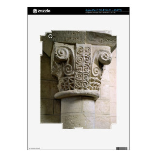 Carved column decorated with croziers and spirals iPad 3 decal