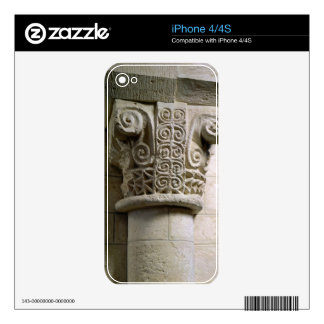 Carved column decorated with croziers and spirals decals for the iPhone 4