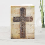 Carved Cross Easter Holiday Card