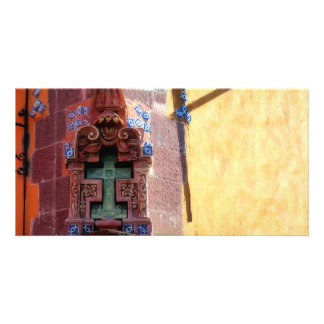 Carved Cross, San Miguel, Mexico, Photo Card