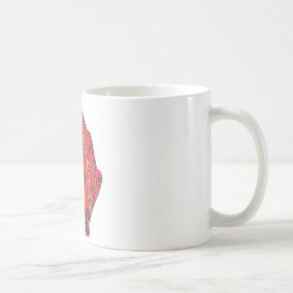 Carved Detail Autumn Leaf Coffee Mug