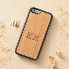 Carved Embossed Monogram Effect On Cherry Wood Carved Cherry Iphone 6 Bumper Case at Zazzle