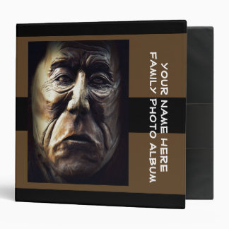 Carved Faces in Wood Binder