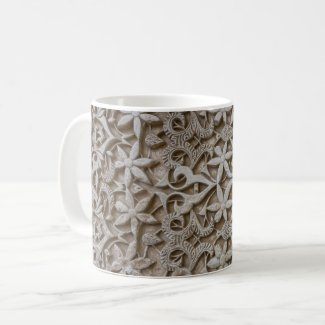 Carved Flower Coffee Mug