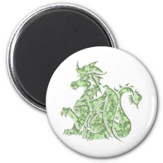 Carved Green Marble Dragon Magnet