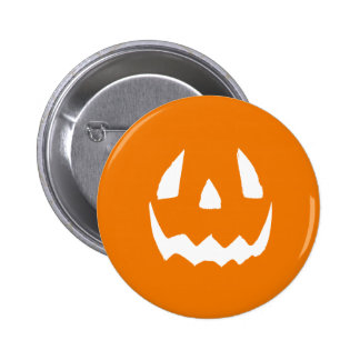 Carved Halloween Pumpkin Face Pins