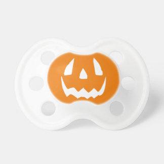 Carved Halloween Pumpkin Face Baby Pacifier