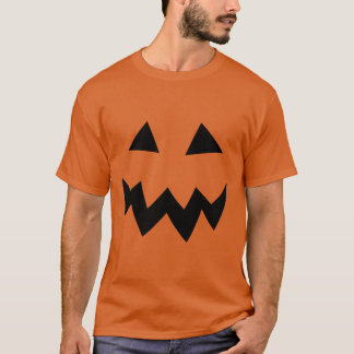 Carved Halloween pumpkin head face party shirt