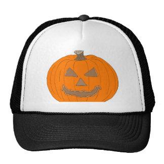 Carved Halloween Pumpkin Pop Art Image Trucker Hats