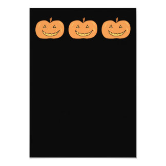 Carved Happy Pumpkin. Halloween. 5x7 Paper Invitation Card