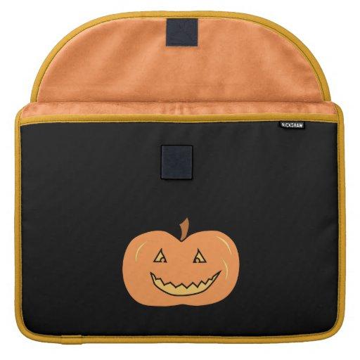 Carved Happy Pumpkin. Halloween. Sleeve For MacBooks