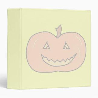 Carved Happy Pumpkin, Pale Colors. Halloween. 3 Ring Binders