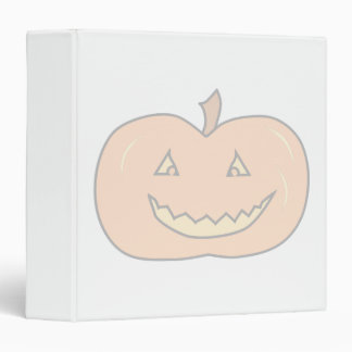 Carved Happy Pumpkin, Pale Colors. Halloween. 3 Ring Binder