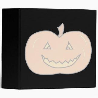 Carved Happy Pumpkin, Pale Colors. Halloween. Vinyl Binder