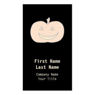 Carved Happy Pumpkin, Pale Colors. Halloween. Double-Sided Standard Business Cards (Pack Of 100)