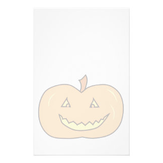"""Carved Happy Pumpkin, Pale Colors. Halloween. 5.5"""" X 8.5"""" Flyer"""