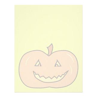 Carved Happy Pumpkin, Pale Colors. Halloween. Letterhead