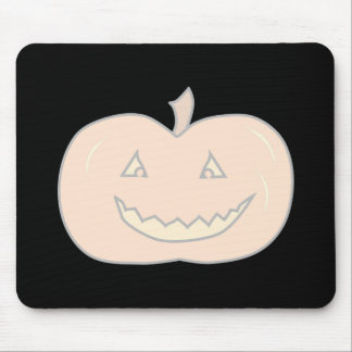 Carved Happy Pumpkin, Pale Colors. Halloween. Mouse Pad