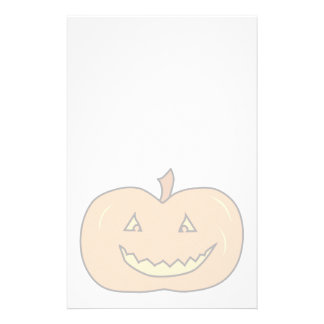 Carved Happy Pumpkin, Pale Colors. Halloween. Stationery