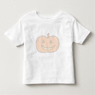 Carved Happy Pumpkin, Pale Colors. Halloween. Tee Shirt