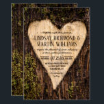 "Carved Heart Country Rustic Tree Wedding Invitation<br><div class=""desc"">Wood Carved Heart Country Rustic Tree Wedding Invitation</div>"