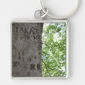 Carved in a Tree Central Park Nature Photography Keychain