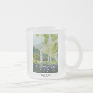 Carved In A Tree Frosted Glass Coffee Mug