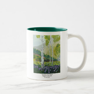 Carved In A Tree Two-Tone Coffee Mug
