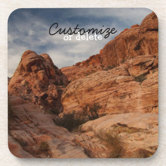 Carved in Stone; Customizable Coaster