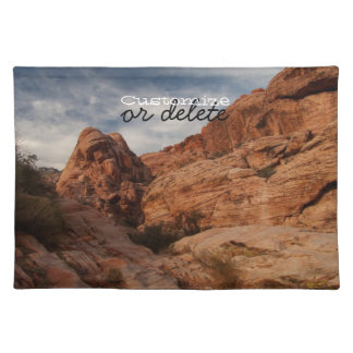 Carved in Stone; Customizable Placemat