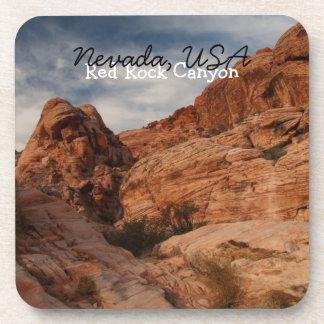 Carved in Stone; Nevada Souvenir Drink Coaster