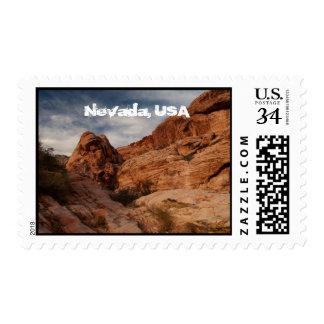 Carved in Stone; Nevada Souvenir Stamp