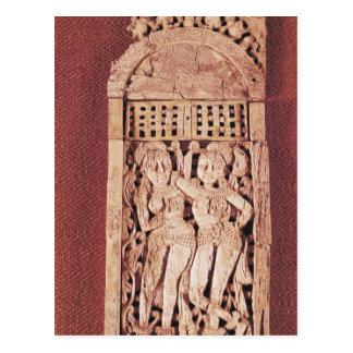 Carved Indian plaque Postcard