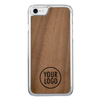 Carved iPhone 7 Case Walnut Wood with Custom Logo