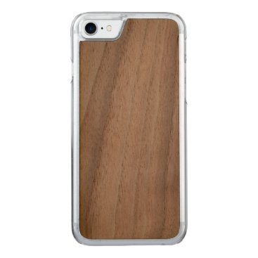 Beach Themed Carved iPhone 7 Slim Case Walnut
