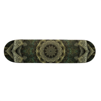 Carved Ivory and Green Skateboard