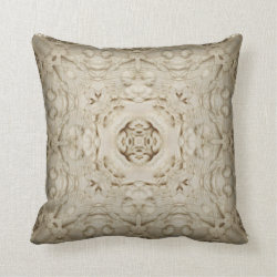 Carved Ivory Kaleidoscope Design Throw Pillow