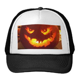 Carved Jack o lantern Mesh Hats